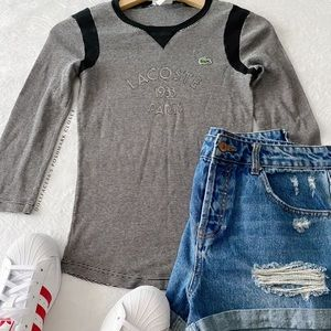 Lacoste Paris Stripe Raglan T-Shirt